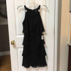 Ruffle cocktail dress